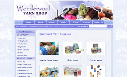 Wonderwool yarn shop